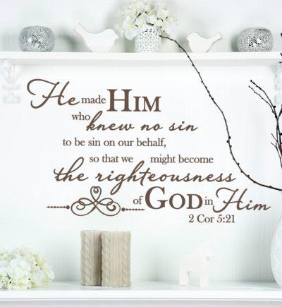 2 Corinthians 5:21 Wall Art