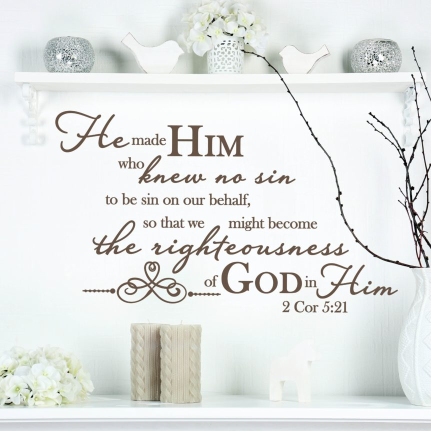 Wall Vinyl Lettering Stickers Christian Bible Inspiration
