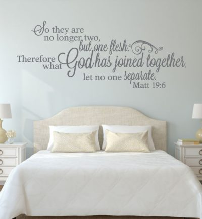 Matthew 19.6 What God Has Joined Together Wall Decor for couples