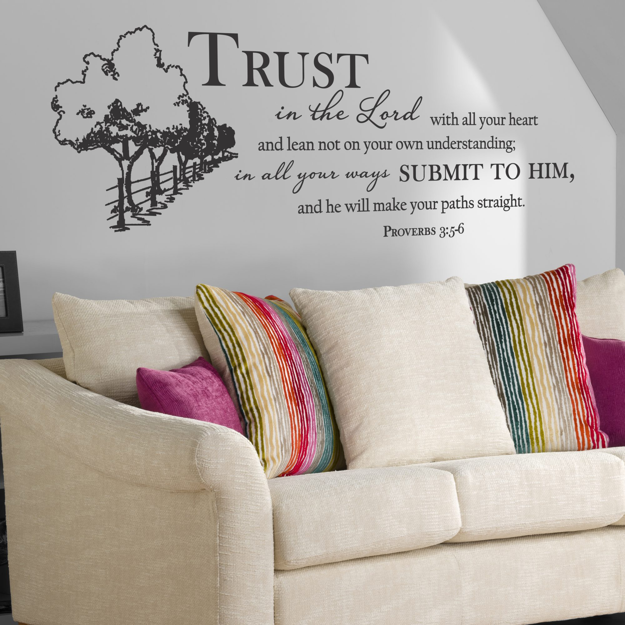 The Lord S Love Wall Decal: Trust In The Lord / Wall Decal