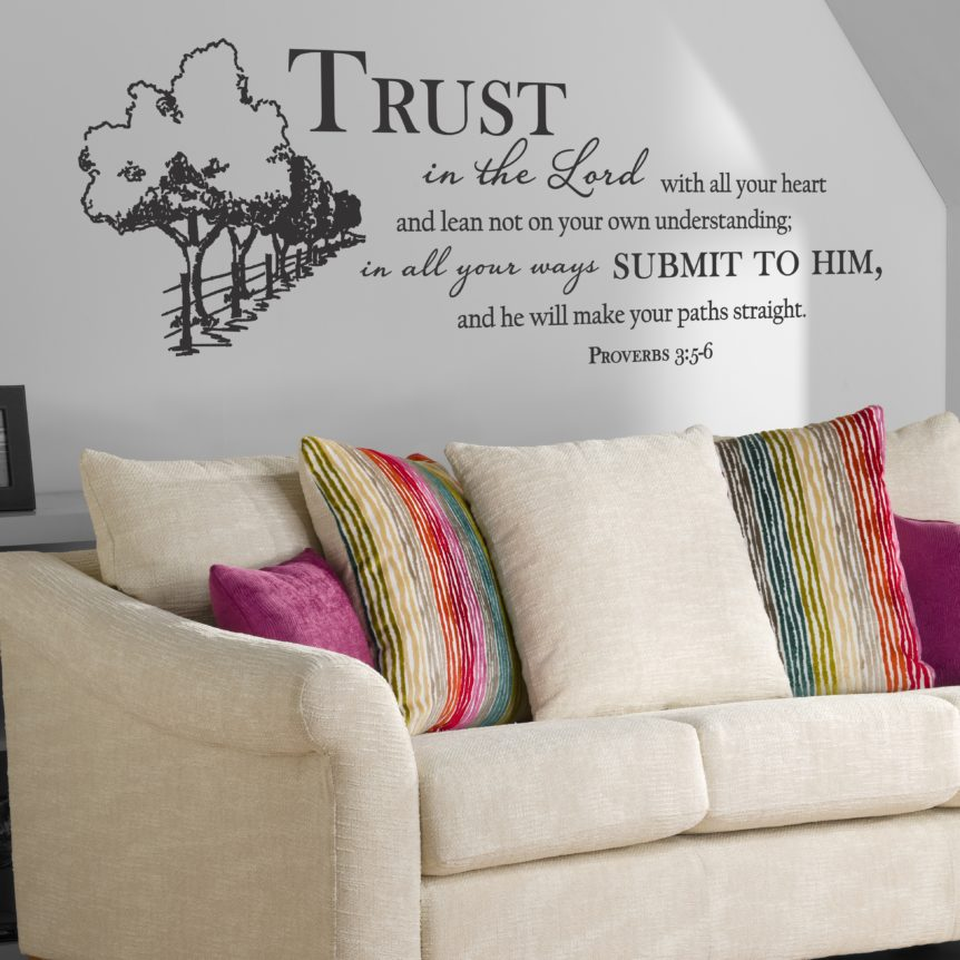 Christian Wall Decal A Great Impression Trust In The Lord