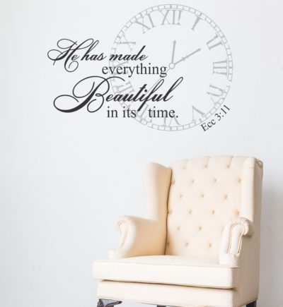 Ecclesiastes 3:11 He Has Made Everything Beautiful In It's Time Wall Decor