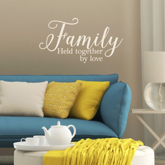 Family held together by love decor