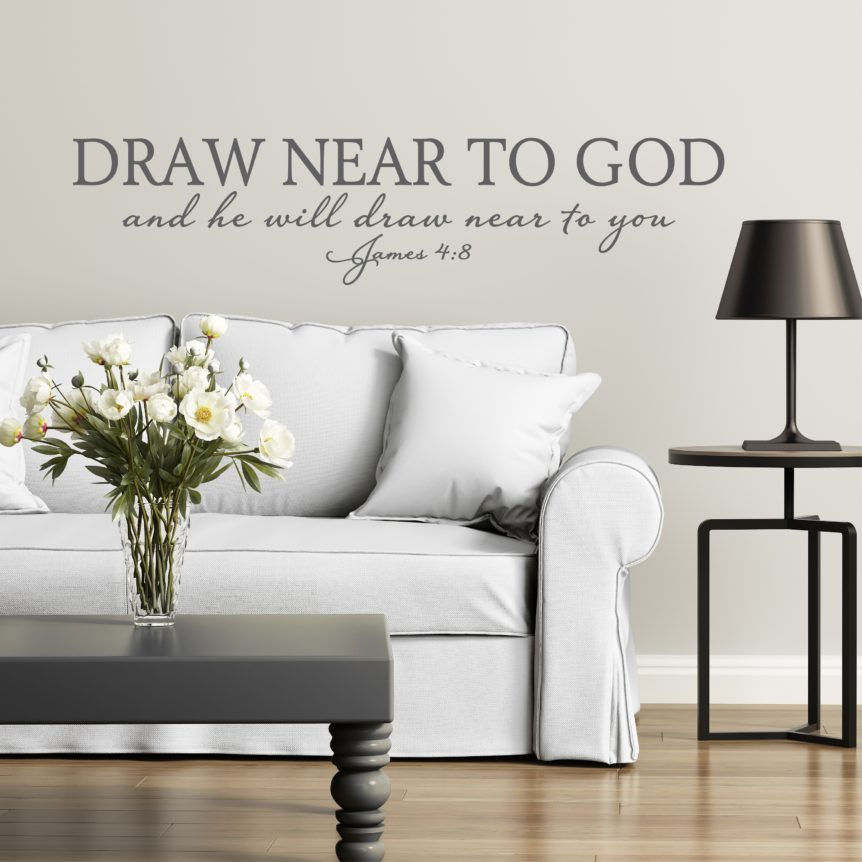 Lettering Made From Vinyl To Decorate Bible Verse and Inspirational Faith Quotes