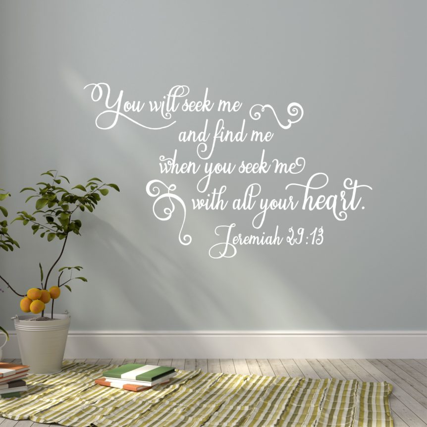 CHRISTIAN WALL DECAL JEREMIAH SCRIPTURE PROMISE WALL ART