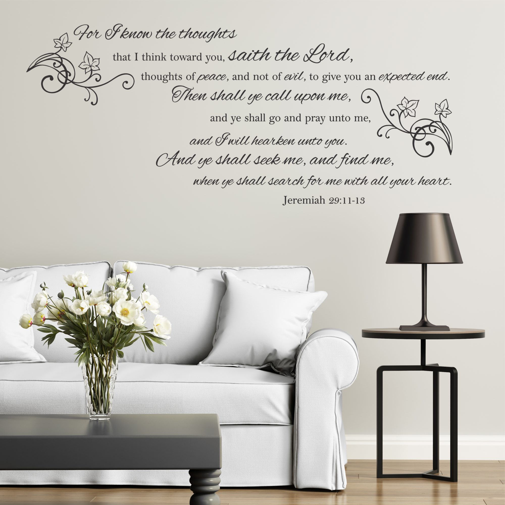 Jeremiah 29 11 13 For I Know The Plans Wall Decal A