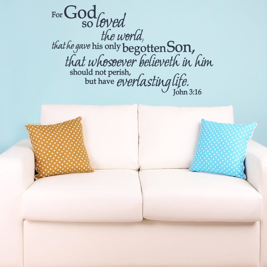 Wall Decal Christian Statements King James Bible Verse