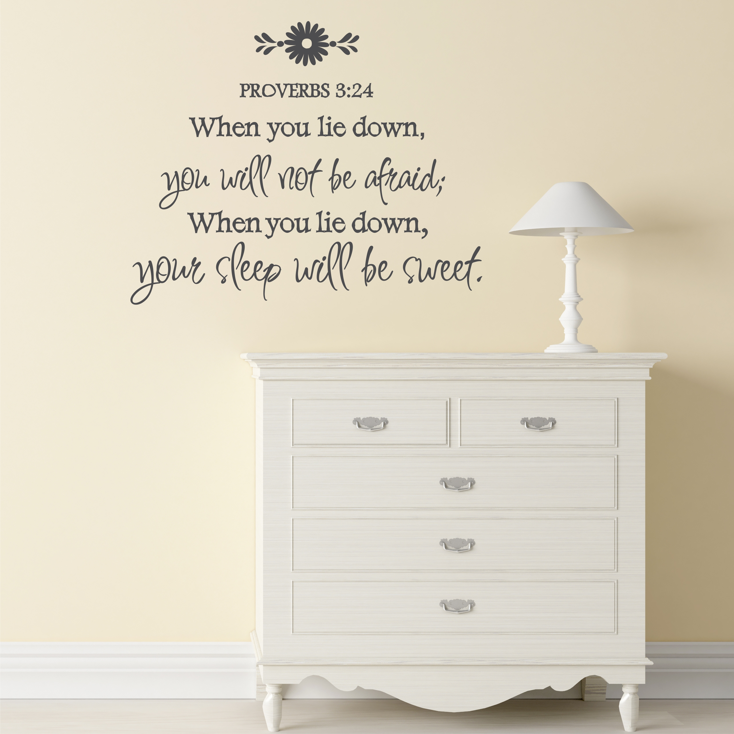 Proverbs 324 when you sleep you will not be afraid wall decal proverbs amipublicfo Gallery