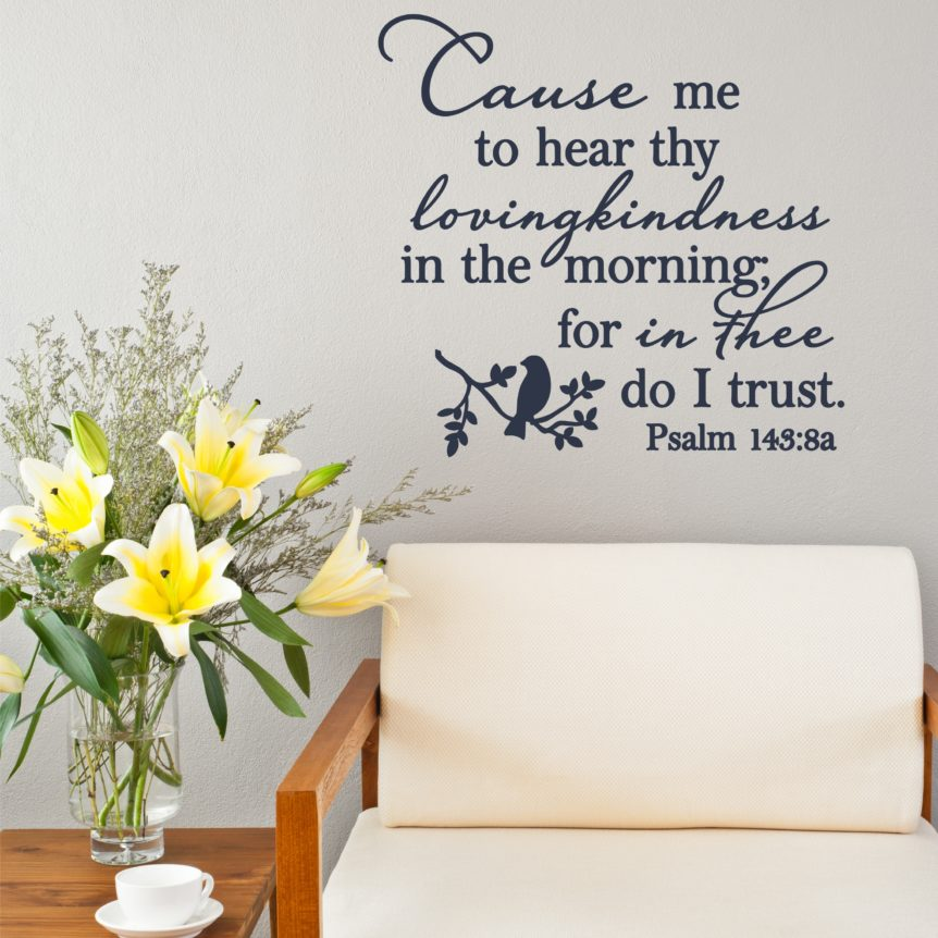 Psalm Wall Quote Vinyl Art Decal For Home Or Church Decor