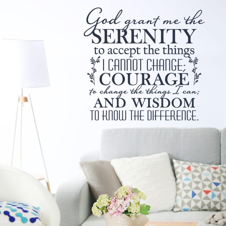 Serenity Prayer - God Grant Me The Serenity