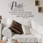 John 14:27 Peace I Leave You Wall Decal