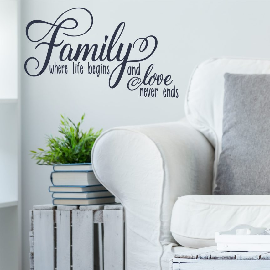 Family Where Life Begins Wall Decal Inspirations For Family A Great Impression