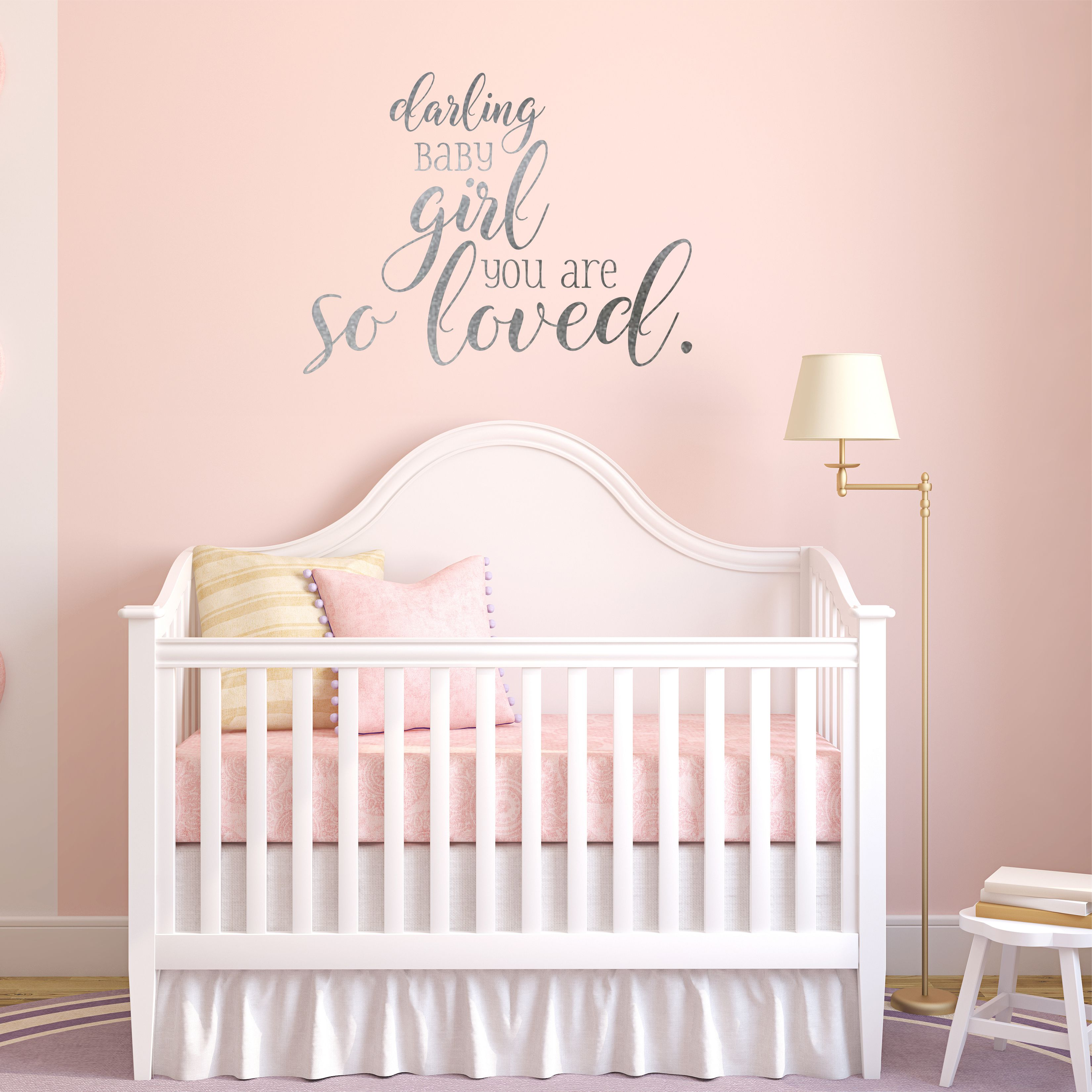 Darling Baby Girl Nursery Wall Decal - A Great Impression