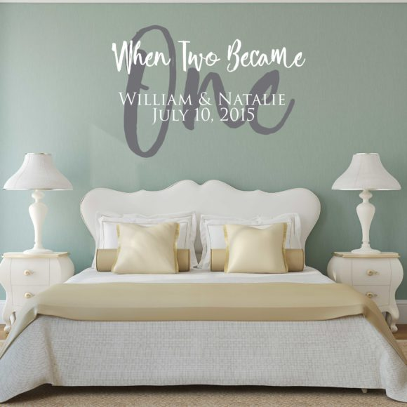 When The Two Became One - Personalized Wall Decal