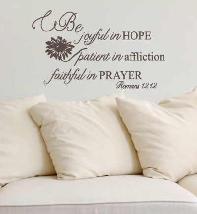 Romans 12.12 Be Joyful In Hope Wall Decor