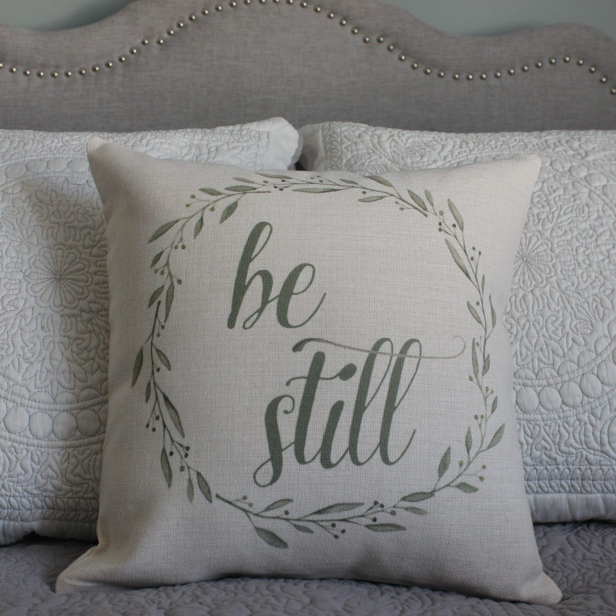 Be Still Linen Pillow Cover