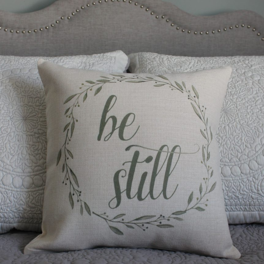 Be Still Linen Pillow Cover