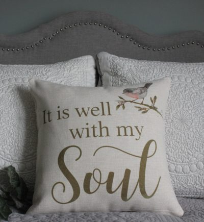 It Is Well With My Soul Linen Pillow Cover