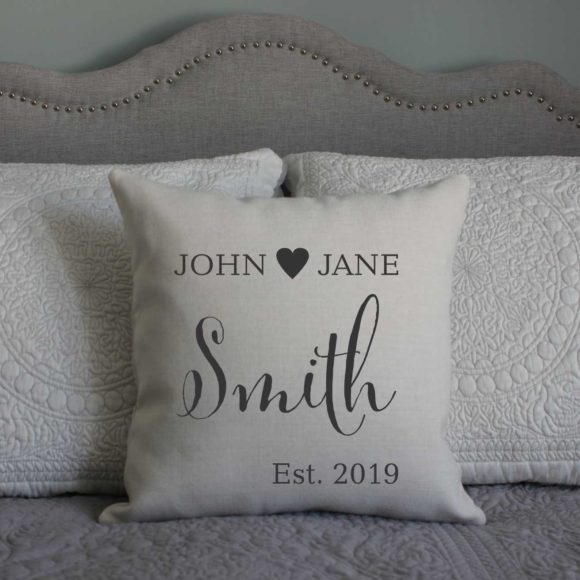 Personalized Pillow For Couples With Established Year