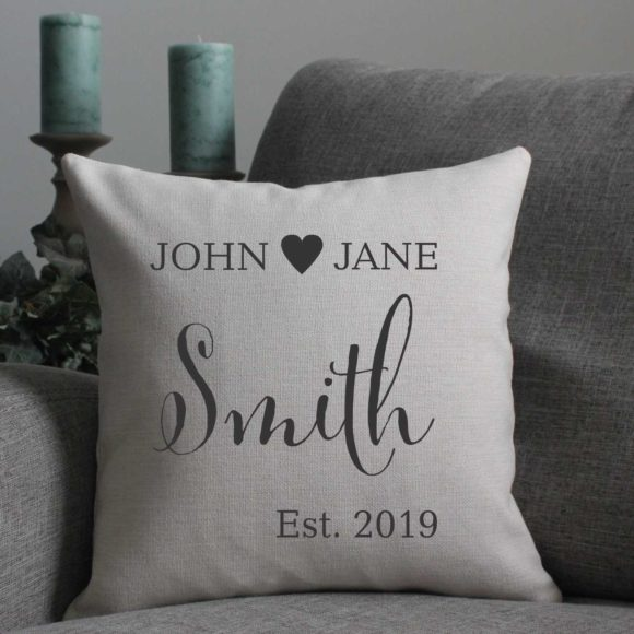 Custom Pillow For Couples With Year Established