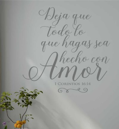 1 Corinthians 16.14 Spanish Wall Art