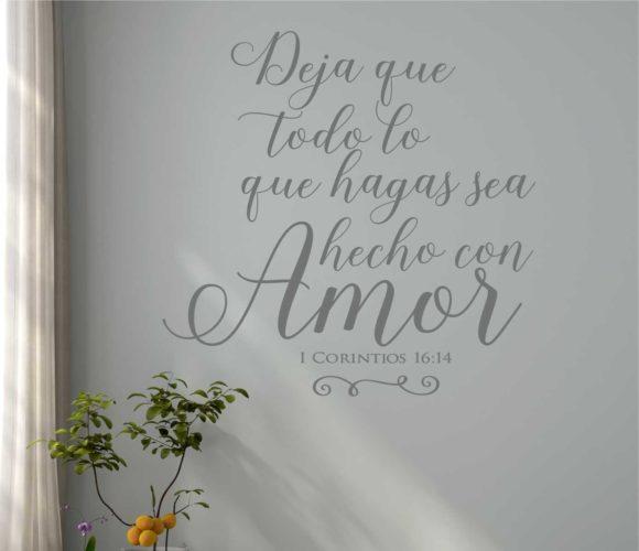 1 Corinthians 16.14 Spanish Wall Art