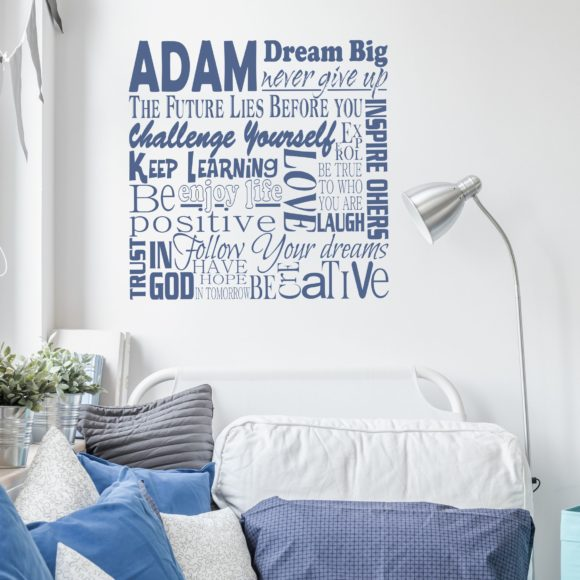 Collage of Inspiration Personalized Wall Decal