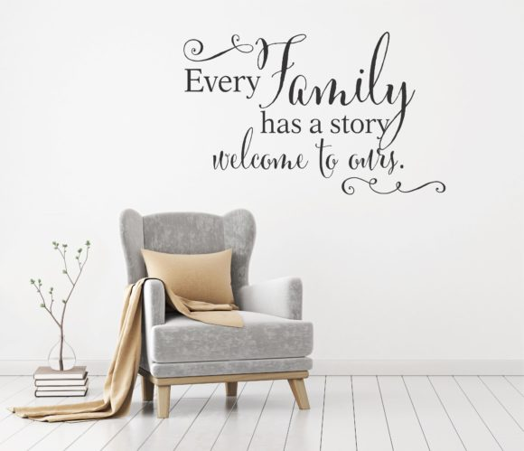 Every Family Has A Story Welcome To Ours Decor