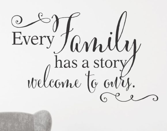 Every Family Has A Story Welcome To Ours Decor.2