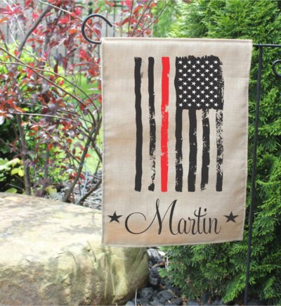 Personalized Firefighter Garden Flag.1