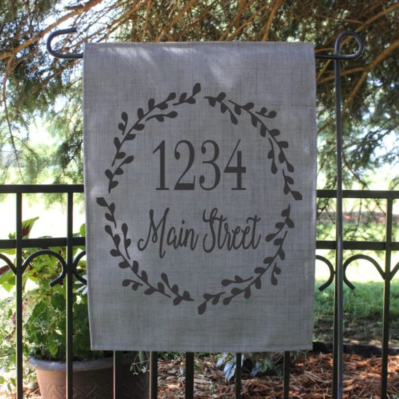 Personalized Garden Flag With Street Name.1