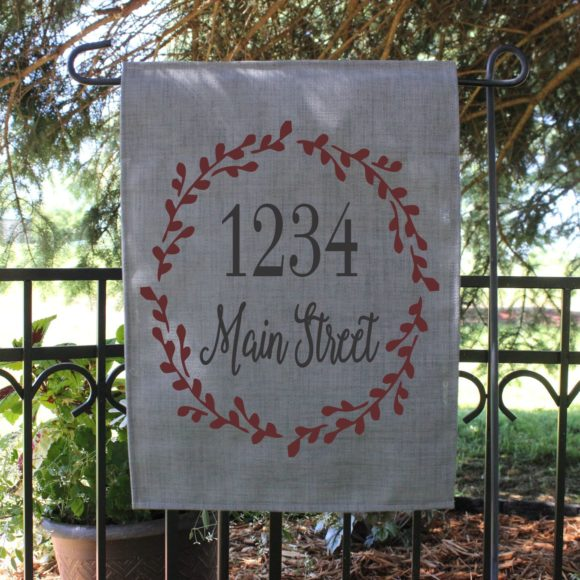 Personalized Garden Flag With Street Name.2