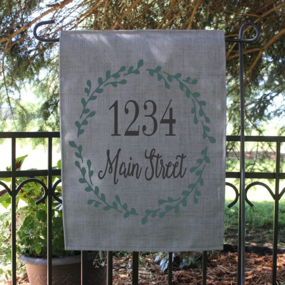 Personalized Garden Flag With Street Name.3