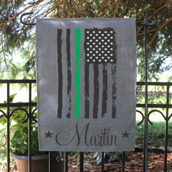 Personalized Armed Forces Garden Flag.2