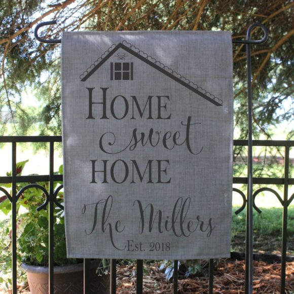 Garden Flag.Tan.Home Sweet Home.2