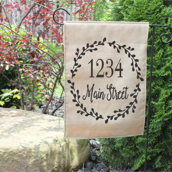 Personalized Garden Flag With Street Name.4