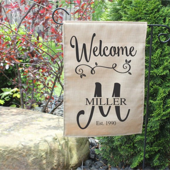 Personalized Welcome Garden Flag with Last Name and Year Established.2