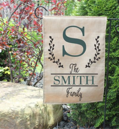 Personalized Garden Flag with Last Name for Family.4