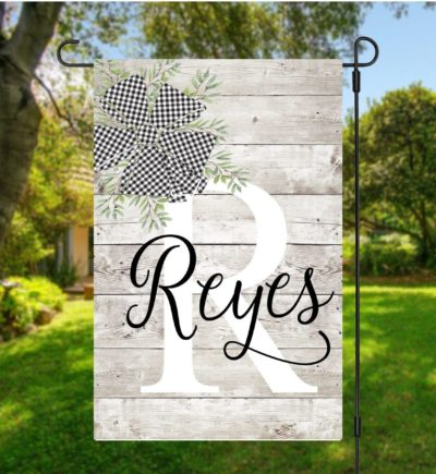 Farmhouse Personalized Garden Flag