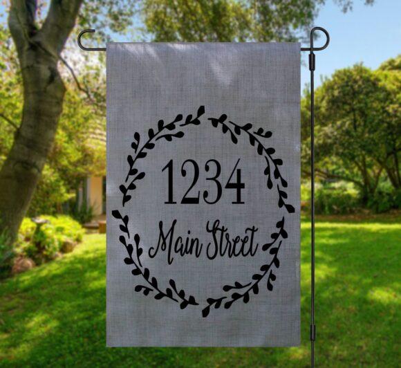 Personalized Address Garden Flag