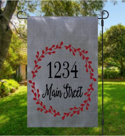 Personalized Address Garden Flag