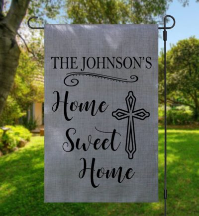 Home Sweet Home Cross Garden Flag