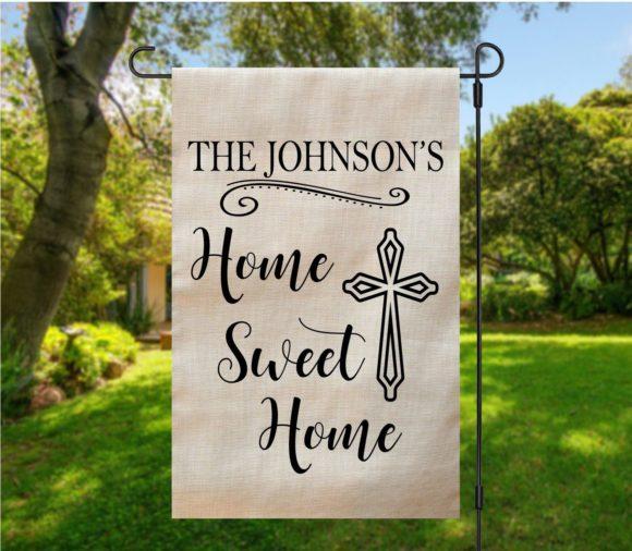 Home Sweet Home Cross Garden Flag