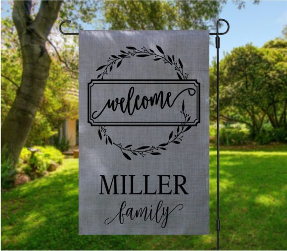 Personalized Welcome Family Garden Flag