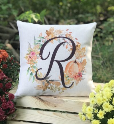 Personalized Fall Harvest Pumpkin Pillow
