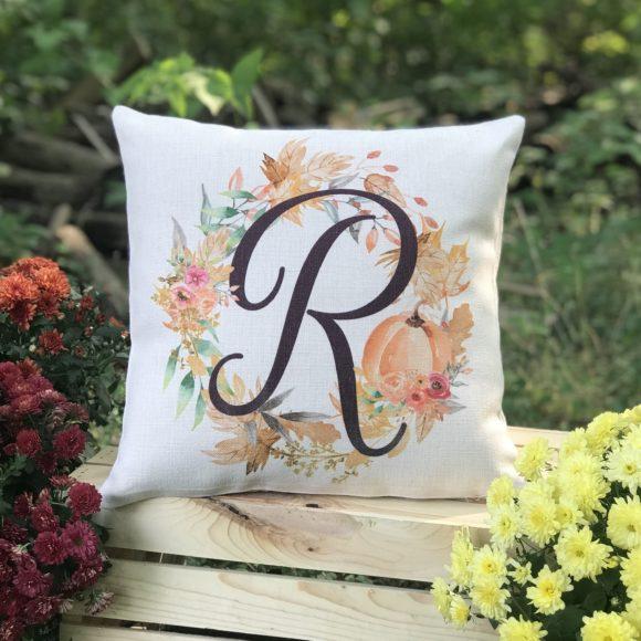 Personalized Fall Harvest Pumpkin Pillow