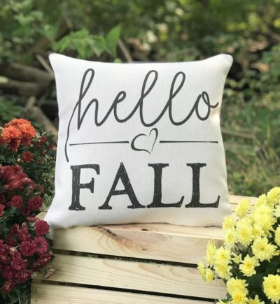 Hello Fall Farmhouse Pillow