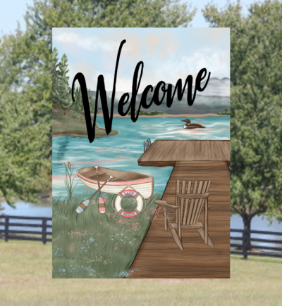 Welcome Lake Garden Flag