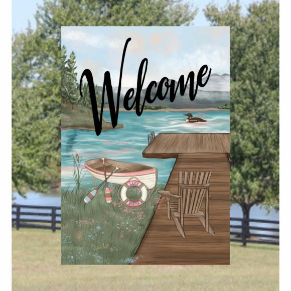 Welcome Lake Garden Flag