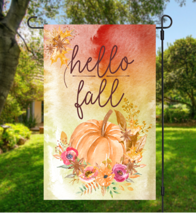 Hello Fall Garden Flag